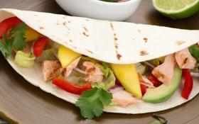 Картинка закуска, начинка, лаваш, мексиканская еда