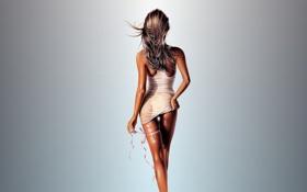 Картинка волосы, рисунок, тело, ключ, арт, ножки, art