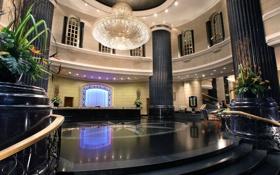 Картинка дизайн, пространство, стиль, интерьер, отель, колоны, помещение