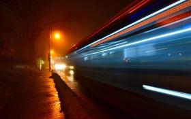 Картинка ночь, город, скорость