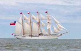 Обои судно, Esmeralda, парусное, баркентина, учебное, чилийских ВМС