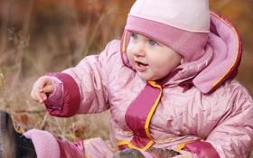 Обои парк, ребенок, голубые глаза, happy, красивые, blue eyes, park
