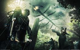Обои дождь, lost, монстры, летающие, planet 2