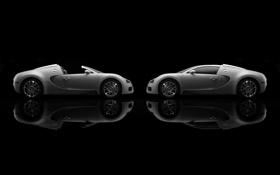 Обои отражение, Bugatti, Veyron, Cabrio