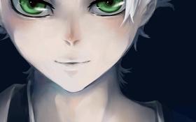 Картинка light, green eyes, bleach, smile