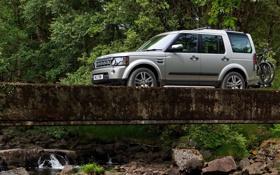 Обои Природа, Мост, Машина, Дискавери, Land Rover, Car, Discovery