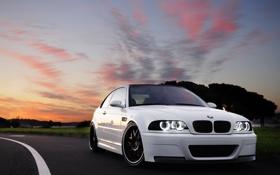Картинка закат, тюнинг, BMW