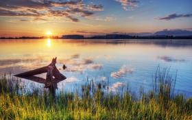 Картинка закат, река, Canada, Фотограф IvanAndreevich