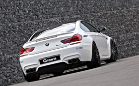 Обои BMW, white, tuning, coupe, g-power, back, f13
