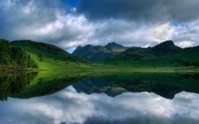 Картинка вода, природа, озеро, фото, пейзажи, леса, реки