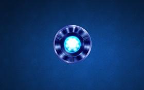 Обои энергия, синий, круг, Iron Man, источник энергии