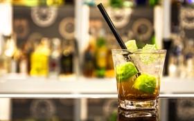 Обои бар, коктейль, трубочка, напиток, bar, drink, cocktail