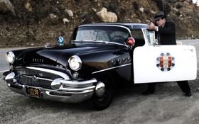 Обои мужик, полиция, шляпа, ствол, Police, Sedan, спец.версия