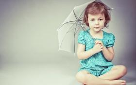 Обои поза, зонт, девочка, ребёнок