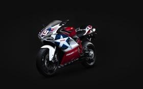 Обои мотоцикл, Ducati, чёрный фон, супербайк, superbike, дукати, 848