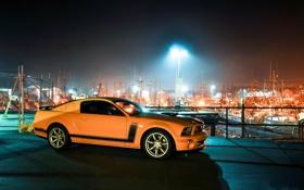 Обои свет, жёлтый, Mustang, Ford, ограждение, порт, Форд