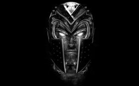 Обои глаза, фон, шлем, Magneto, Marvel Comics