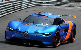 Обои машины, concept, спорт, концепт, кар, renalt alpine a110-50, дорога .