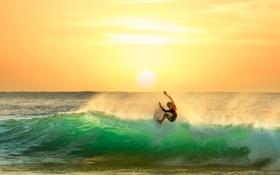 Обои waves, water, surf