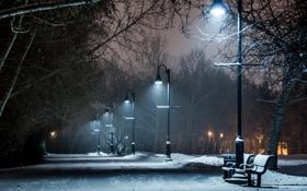 Обои ночь, город, улица