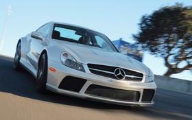 Картинка авто, Mercedes-Benz, мерседес, передок, Black Series, SL65