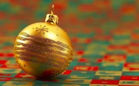 Обои фото, украшение, настроение, новый год, шарик, обои, елочное