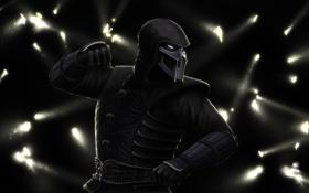 Обои тень, боец, ниндзя, Mortal Kombat, Noob Saibot