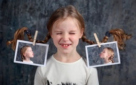 Картинка девочка, фотографии, косички
