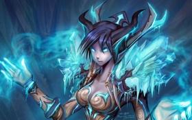 Картинка World of warcraft, wow, дренейка, draenei, mage
