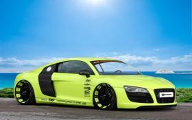 Картинка Audi, тюнинг, Ауди, зелёный, суперкар, tuning, V10