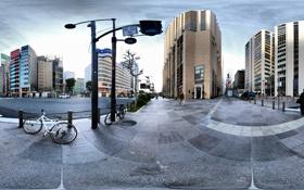 Обои велик, улица, дороги, дома, Япония, Панорама, Токио