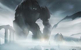 Обои лед, монстр, роботы, гигант