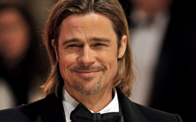 Обои Брэд Питт, бабочка, актер, бородка, Brad Pitt