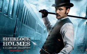Картинка actor, фильм, sherlock holmes, актер, игра теней, шерлок холмс, джуд лоу