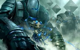 Обои guild wars, доспех, зверёк
