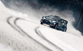 Обои Ford, Зима, Снег, Машина, WRC, Rally, Fiesta