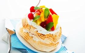 Обои пирожное, еда, фрукты, ягоды, торт, сладости