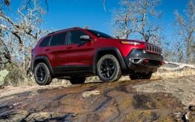 Обои джип, внедорожник, автомобиль, Jeep, Cherokee, Trailhawk