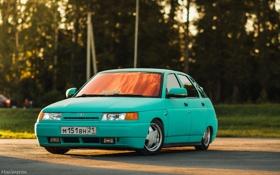 Обои машина, авто, голубой, Lada, auto, 2112, ВАЗ