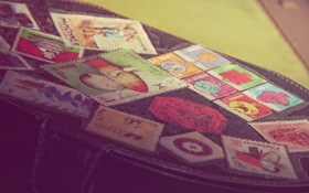 Обои цвета, сумка, марки