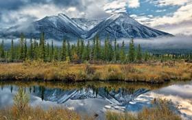 Обои пейзаж, горы, озеро, Alberta, Canada, Banff