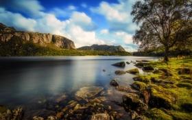 Обои пейзаж, природа, камни, берег, водоём