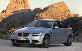Обои Авто, Горы, BMW, Машина, Серый, БМВ, Серебро