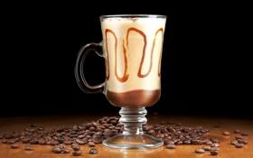 Обои макро, чашка, Frozen Coffee