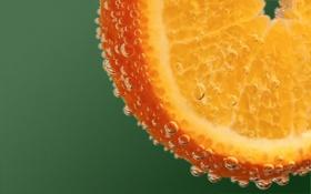 Картинка пузырьки, апельсин, orange