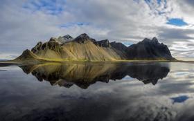 Обои Mountain, Iceland, Reflection