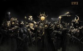 Картинка череп, броня, персонажи, E.Y.E: Divine Cybermancy, оружие