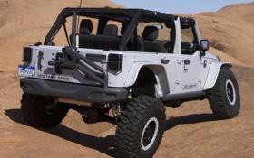 Обои машина, Concept, вид сзади, Wrangler, Jeep, Mopar Recon