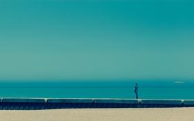 Обои море, настроение, человек, Nostalgia