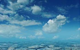 Картинка облака, вода, небо, море, камни